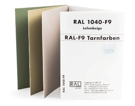 RAL F9 Color Card